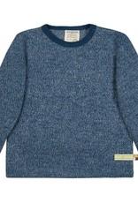 Loud+Proud Loud+Proud - shirt, melange knit, ultramarine