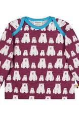 Loud+Proud Loud+Proud - shirt, plum, ijsberen - B