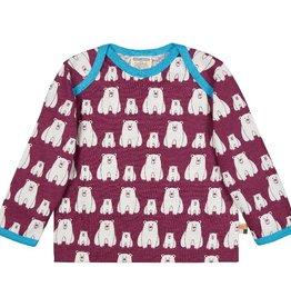 Loud+Proud Shirt, plum, ijsberen (0-2j)