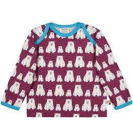 Loud+Proud Shirt, plum, ijsberen - B (0-2j)