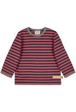 Loud+Proud Loud+Proud - shirt, streepjes, melon/ultramarine