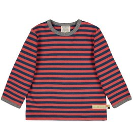 Loud+Proud Shirt, streepjes, melon/ultramarine (3-16j)