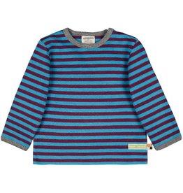 Loud+Proud Shirt, streepjes, plum/aqua (0-2j)