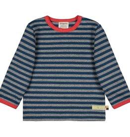 Loud+Proud Shirt, streepjes, steel/ultramarine (0-2j)