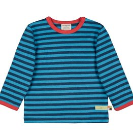 Loud+Proud Shirt, streepjes, ultramarine/aqua (3-16j)