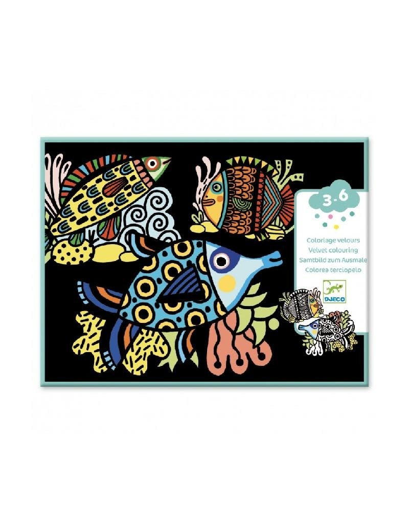 Djeco Djeco - kleurplaten, vilt, mooie vissen