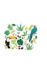 Djeco Djeco - raamstickers, herkleefbaar, jungle