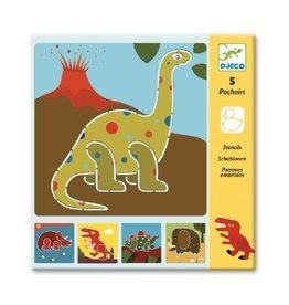 Djeco Sjablonen, dinosaurussen