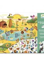 Djeco Djeco - decalcomanie, savanne, woestijn en noordpool