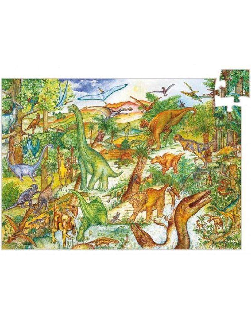 Djeco Djeco - puzzel, observation, dinosaurussen, 100 stukken