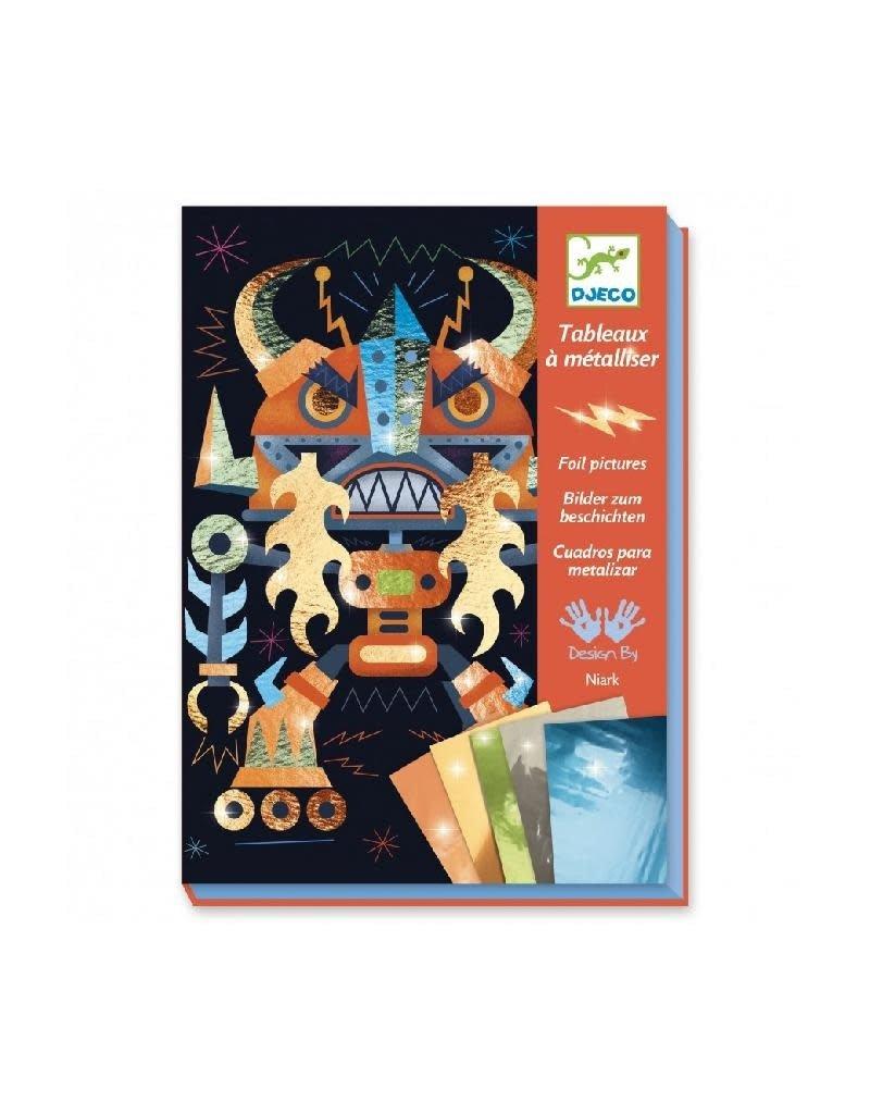 Djeco Djeco - schilderijtjes metalliseren, robots