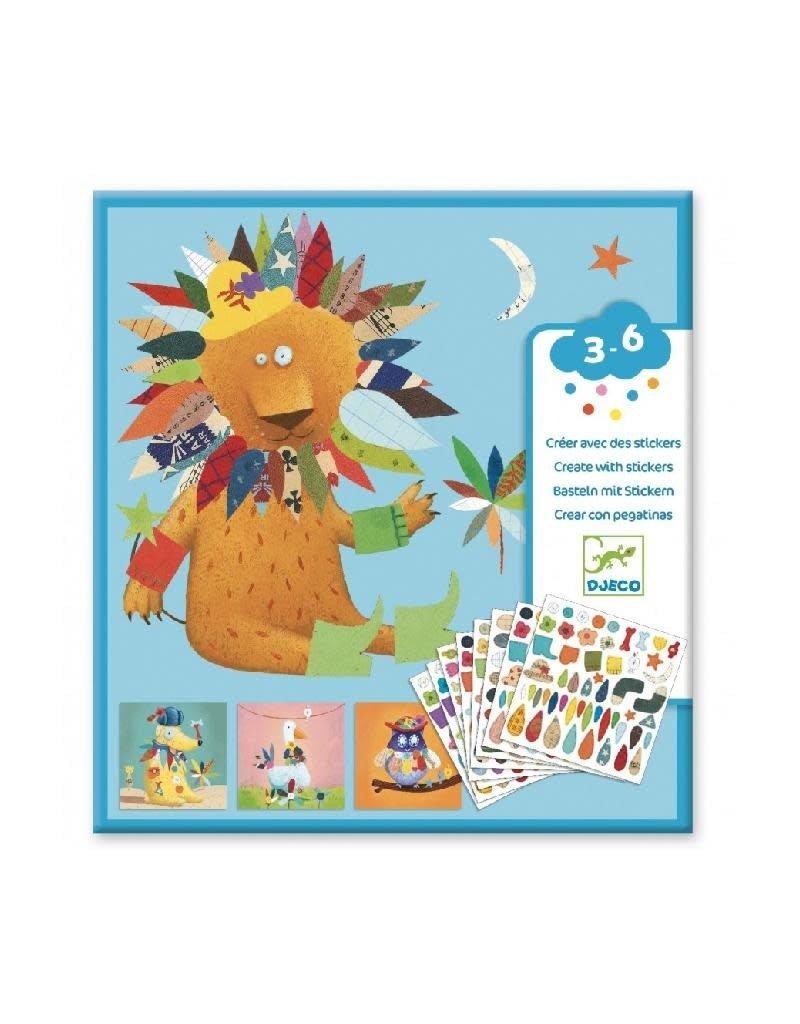 Djeco Djeco - creëren met stickers, dieren, 300 stickers