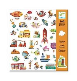 Djeco Stickers, onderweg