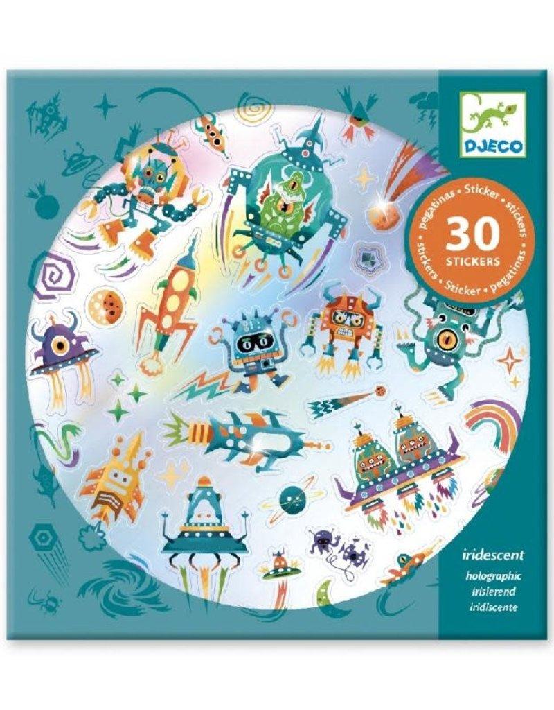 Djeco Djeco - stickers, holografisch, in de ruimte, 30 stuks