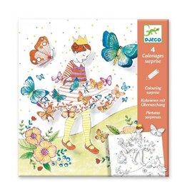 Djeco Kleurplaten, Lady Butterfly