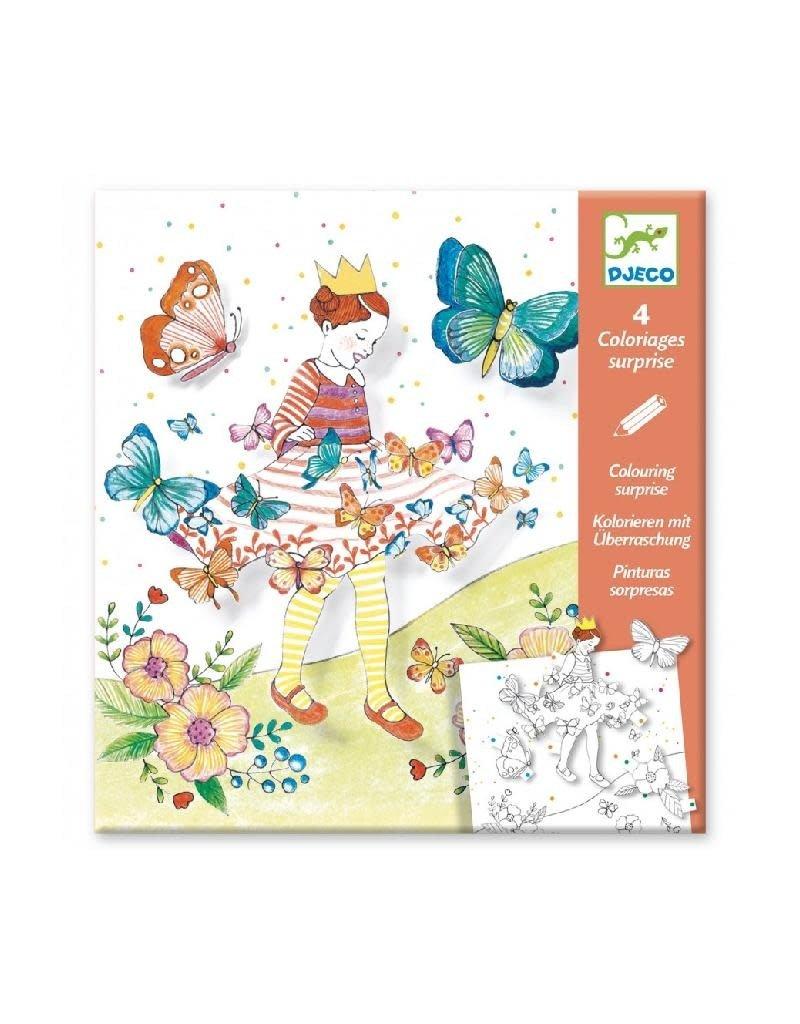 Djeco Djeco - kleurplaten, 3D, Lady Butterfly