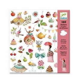 Djeco Stickers, thee drinken met prinsessen