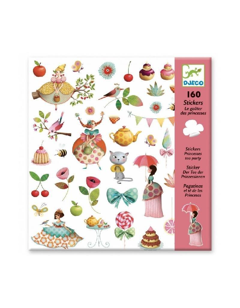 Djeco Djeco - stickers, thee drinken met prinsessen