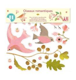 Djeco Raamstickers, romantische vogels
