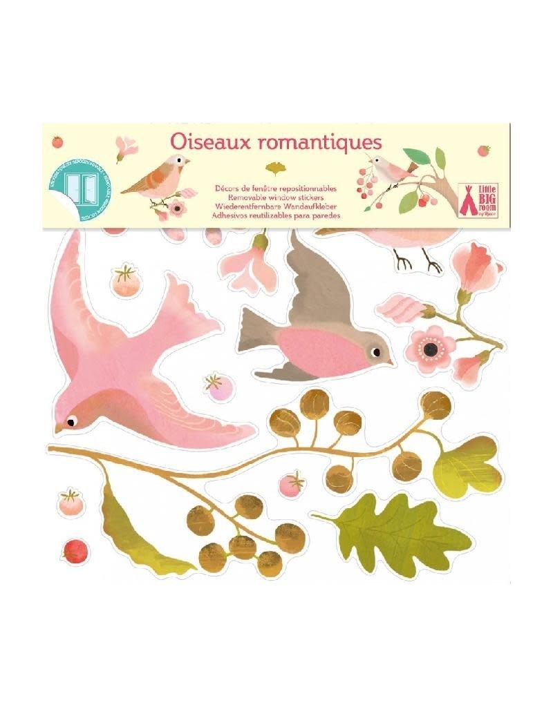 Djeco Djeco - raamstickers, herkleefbaar, romantische vogels