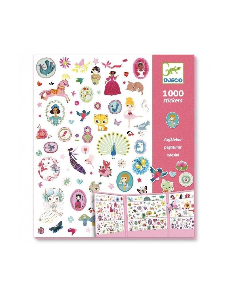 Djeco Djeco - stickers, mapje met 1000 stickers, dieren en meisjes