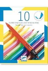 Djeco Djeco - viltstiften, 2 punten, fluo, 10 stuks