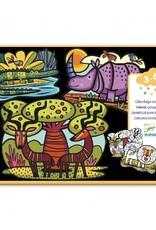 Djeco Djeco - kleurplaten, vilt, dieren van de savanne