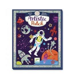 Djeco Stickers, metaalfolie, kosmos