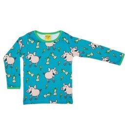 Duns Sweden Shirt, Pig Teal-B (0-2j)