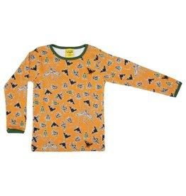 Duns Sweden Shirt, Flies Dark Cheddar (0-2j)