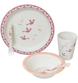 Fresk Dinner set bamboo Birds