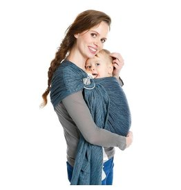 Babylonia Carriers BB-SLING Waterfall Blue, gathered