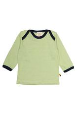 Loud+Proud Loud+Proud - shirt, mosgroen gestreept (3-16j)