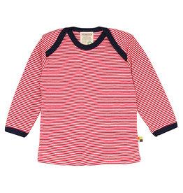 Loud+Proud Shirt, rood gestreept (3-16j)