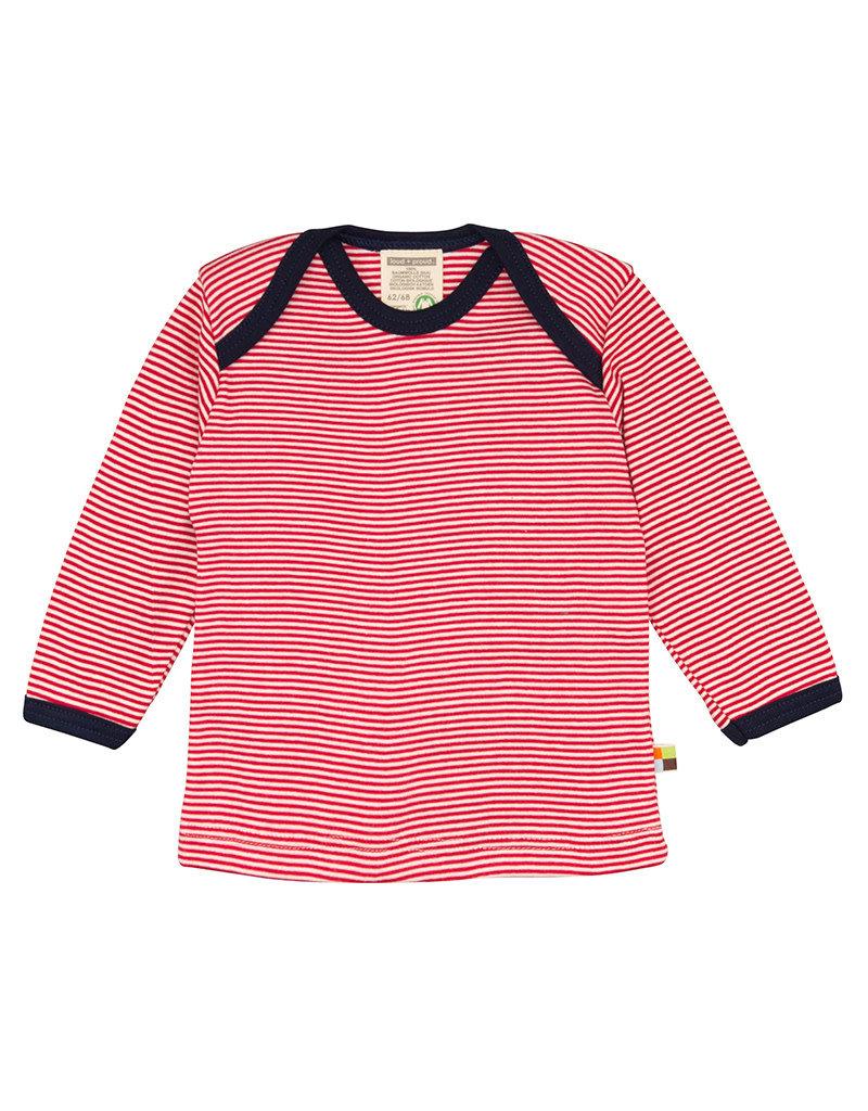 Loud+Proud Loud+Proud - shirt, rood gestreept (3-16j)