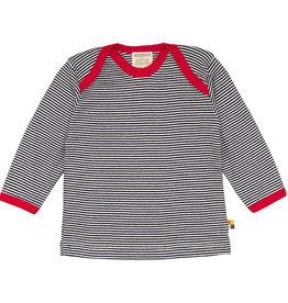 Loud+Proud Shirt, donkerblauw gestreept (0-2j)