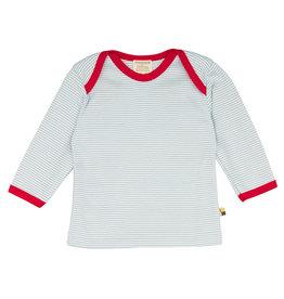 Loud+Proud Shirt, ijsblauw gestreept (0-2j)
