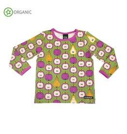 Villervalla Shirt, turtle, garden fruit (0-2j)