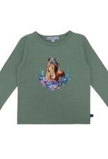 Enfant Terrible Enfant Terrible - shirt, grijsgroen, paardenhoofdprint (3-16j)