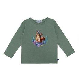 Enfant Terrible Shirt, grijsgroen, paardenhoofdprint (3-16j)