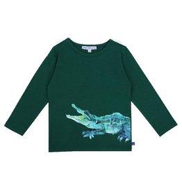 Enfant Terrible Shirt, groen, krokodillenprint (3-16j)