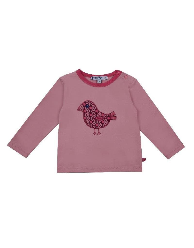 Enfant Terrible Enfant Terrible - shirt, roze, vogel (0-2j)