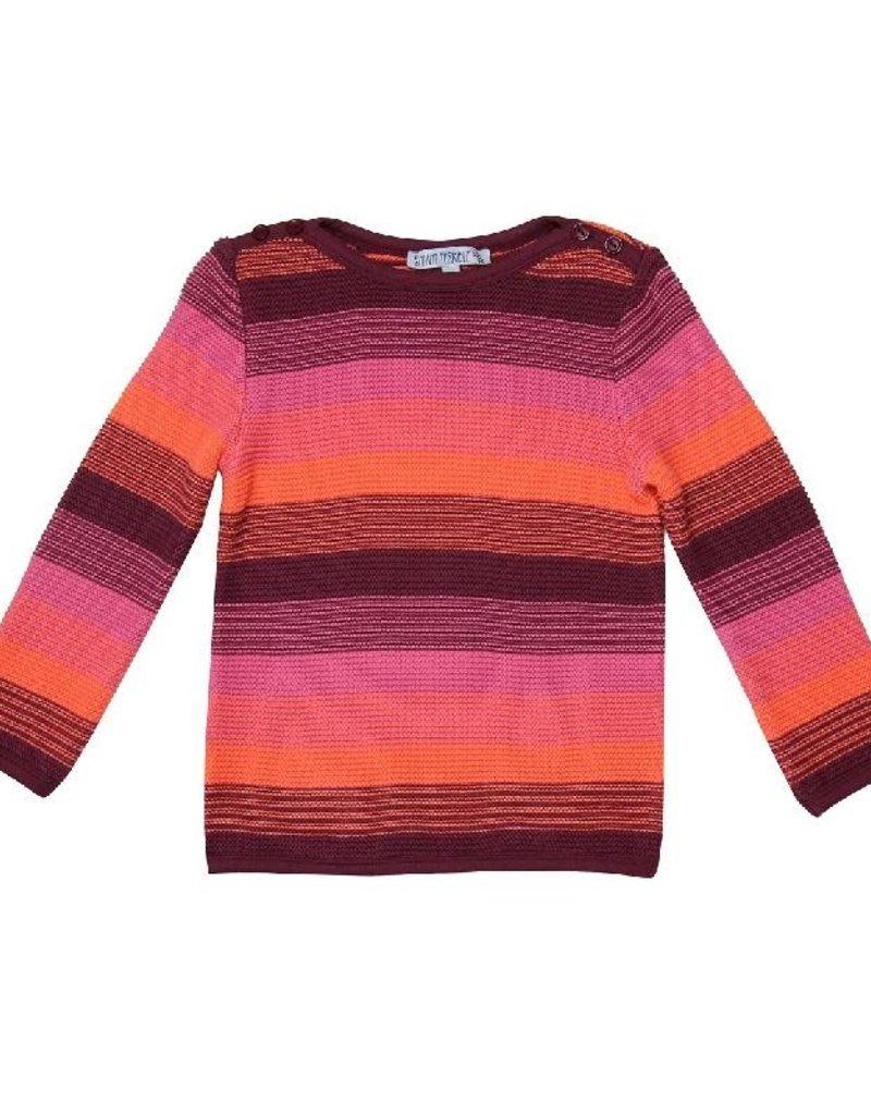 Enfant Terrible Enfant Terrible - trui, roze gestreept (3-16j)