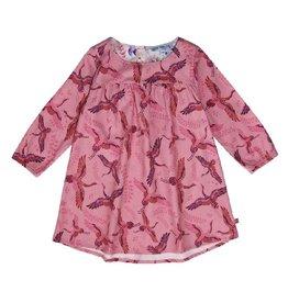 Enfant Terrible Jurk, roze, kraanvogels (0-2j)