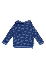 Enfant Terrible Enfant Terrible - kaptrui, blauw, dino's (3-16j)