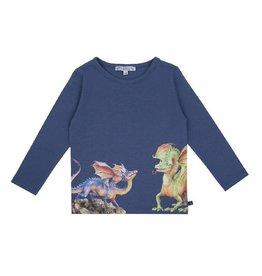 Enfant Terrible Shirt, blauwgrijs, drakenprint (3-16j)