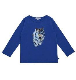 Enfant Terrible Shirt, blauw, wolvenprint (3-16j)