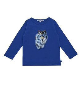 Enfant Terrible Shirt, blauw, wolvenprint (3-16j)