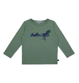 Enfant Terrible Shirt, grijsgroen, dinoprint (3-16j)
