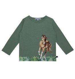 Enfant Terrible Shirt, grijsgroen, paardengalopprint (3-16j)